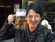 japanese man drinking beer